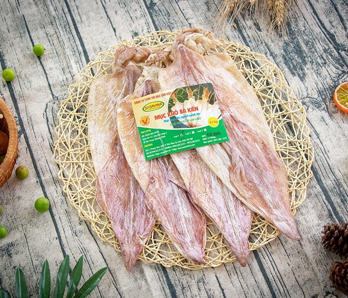 Mực khô Cô Tô thương hiệu Bá Kiến chất lượng cho các món ăn từ mực khô hấp dẫn
