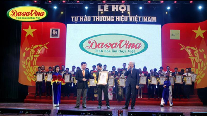 Công ty DASAVINA vinh dự nhận giải thưởng Tự hào Thương hiệu Việt Nam