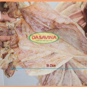 Mực khô Cô Tô loại 2 là loại mực lớn, có chiều dài thân mực từ 18 - 23 cm