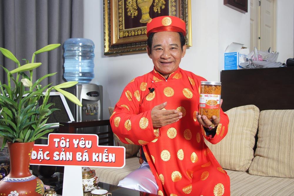 Nghệ sĩ Quang Tèo lựa chọn Ruốc tôm Bá Kiến cho bữa ăn hàng ngày của gia đình