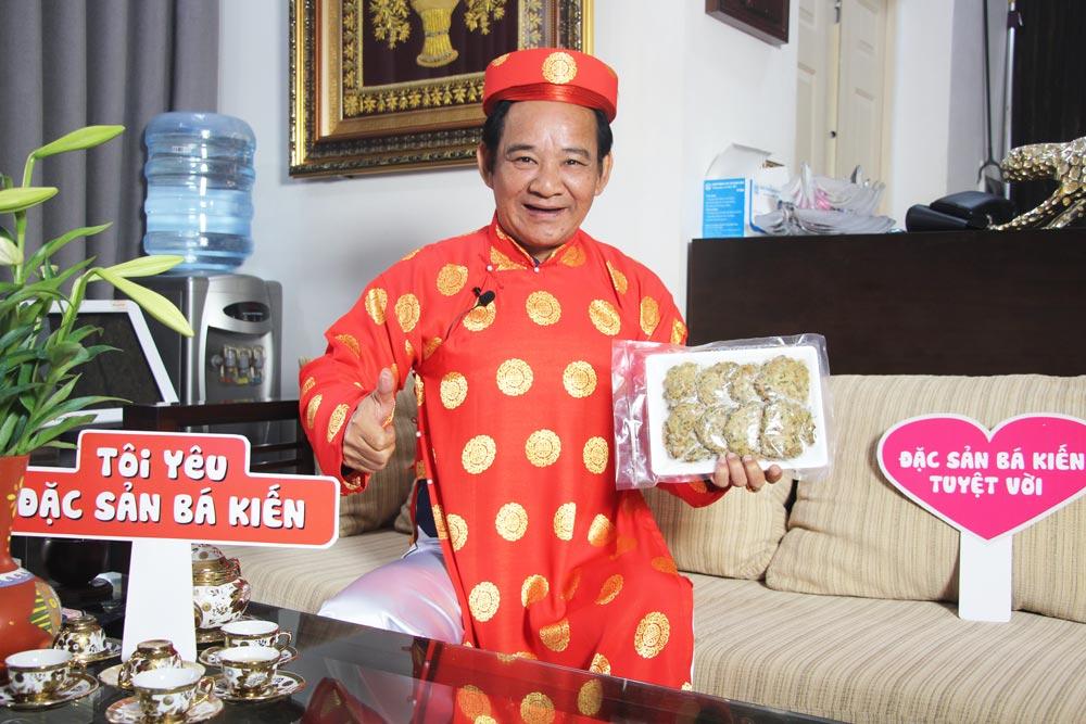 Nghệ sĩ Quang Tèo yêu thích món Chả Rươi Bá Kiến