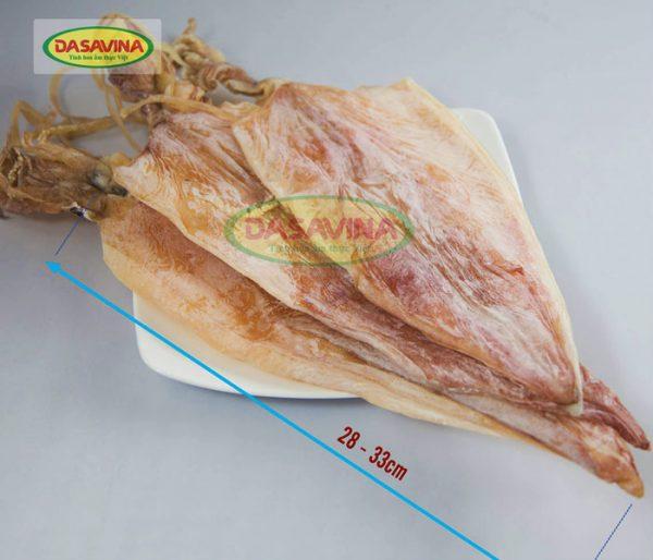 Mực khô Cô Tô loại 1 là loại mực lớn, có chiều dài thân mực từ 28 - 33 cm