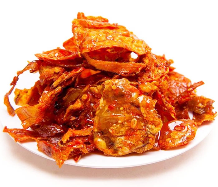 Khô mực ngào đường ớt cay ngọt hấp dẫn