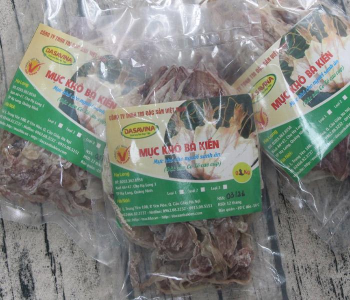 Mực khô Bá Kiến loại 4 chất lượng, giá thành phải chăng phù hợp với từng bữa ăn trong gia đình bạn