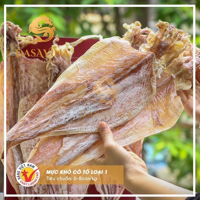 Mực khô Bá Kiến loại 1 được nhiều khách hàng lựa chọn