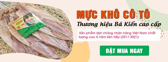Mực khô Bá Kiến - một trong những thương hiệu mực khô nổi tiếng trên thị trường